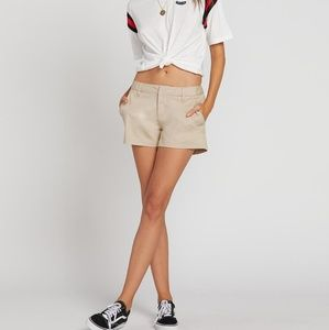 "Volcom Frochickie 5"" Oxford Tan shorts"